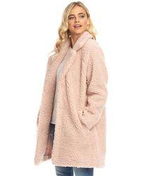 ONLY Aurelia Sherpa Coat Rose Smoke - Pink