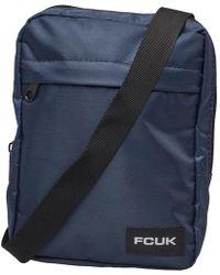 French Connection S Fcuk Nylon Flight Bag Marine - Blue