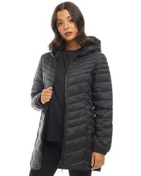 ONLY - Demi Hooded Puffer Jacket Black - Lyst