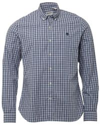 Timberland - Eastham Long Sleeve Check Shirt Dark Sapphire - Lyst