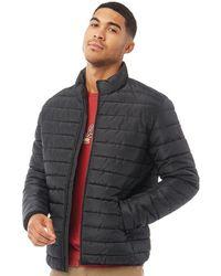 Jack & Jones Wing Stand Collar Puffer Jacket Black