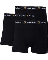 Farah Saginaw 3 Pack Boxers - Black