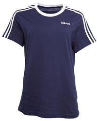 adidas 3-stripes Essentials Boyfriend T-shirt Legend Ink - Blue
