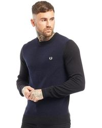 Fred Perry Textured Jumper Black - Blue
