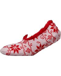 Brave Soul Snowflake Slipper Socks Multi - Pink