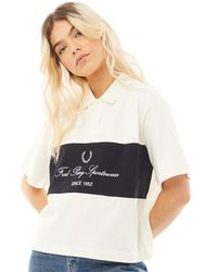 Fred Perry Embroidered Pique Shirt Snow White