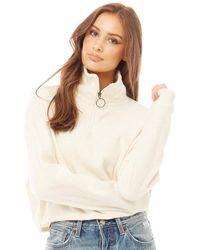 Brave Soul Mary Polar Sweater Ecru - Meerkleurig