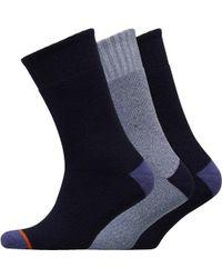 Weatherproof - Three Pack Thermal Crew Socks Navy - Lyst