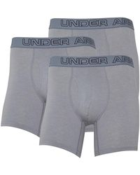 Under Armour Boxer Charged Cotton Stretch 6 Inch Boxerjock Anthracite - Gris