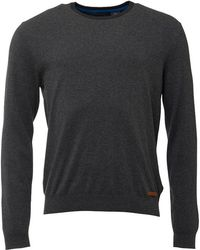 Timberland - Eastham Crew Neck Jumper Dark Grey - Lyst