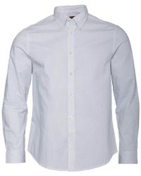 Ben Sherman - Long Sleeve Dash Print Shirt White - Lyst
