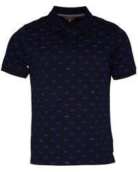 Ben Sherman - Scooter Print Jersey Polo Navy - Lyst
