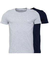 Emporio Armani Twee Pack T-shirt Marineblauw