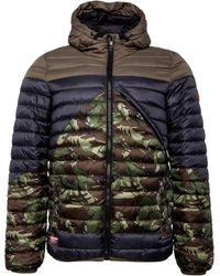Superdry Veste Puffer Axis Padded Gris Vert - Multicolore