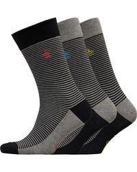 Original Penguin Three Pack Socks Black