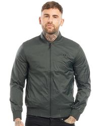 Fred Perry - Lightweight Bomber Jacket Forest Pine - Lyst