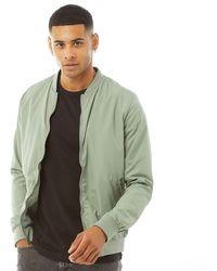 Brave Soul Sanjay Bomber Jacket Sage - Green