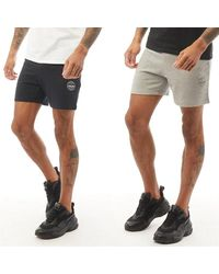 Jack & Jones More Two Pack Sweat Shorts Black/light Grey Marl - Multicolour