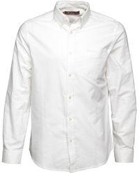 Ben Sherman - Long Sleeve Plain Oxford Shirt White - Lyst