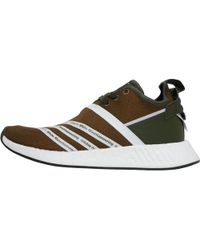 adidas Originals - X White Mountaineering Footwear Nmd_r2 Primeknit Trainers Trace Olive/footwear White/footwear White - Lyst
