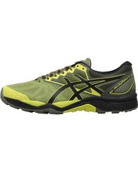 Asics - Gel Fujitrabuco 6 Trail Running Shoes Sulphur Spring/black/four Leaf - Lyst