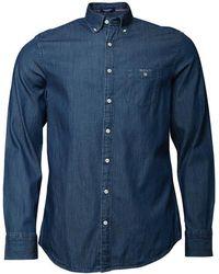 GANT - Indigo Reg Fit Shirt Dark Indigo - Lyst