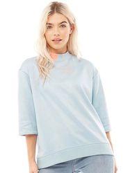 adidas Originals Eqt Sweatshirt Ash Grey - Blue