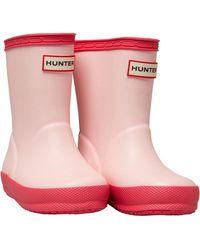 HUNTER Gummistiefel Hellrosa - Pink