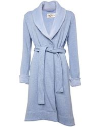 UGG Robe de Chambre Duffield II Bleu Clair Chiné