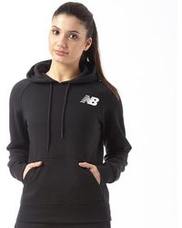 New Balance - Core Fleece Hoodie Black - Lyst