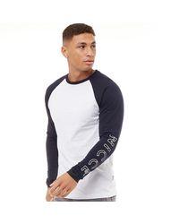 Nicce London Stockton Long Sleeve T-shirt White
