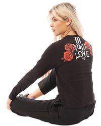 Y-3 Yohji Love Long Sleeve T-shirt Black