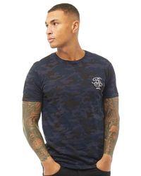Brave Soul Crawl T-Shirt Mehrfarbig - Blau