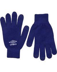 Umbro - Knitted Tech Gloves Royal/white - Lyst