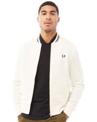 Fred Perry Zip Through Sweatshirt Snow White
