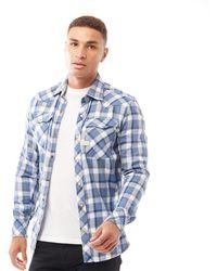 G-Star RAW 3301 Slim Shirt Long Sleeve Delft Sali Check - Blue