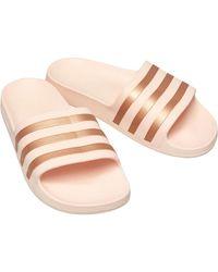 adidas Tongs Adilette Aqua Slides Rose