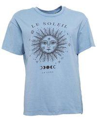 Brave Soul Soleil Acid Wash T-shirt Sky Blue