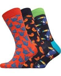 Happy Socks Chaussettes Multicolore - Bleu