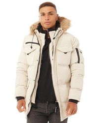 Good For Nothing Storm Double Layered Parka Stone - Natural