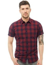 Jack & Jones - Fischer Short Sleeve Shirt Cordovan - Lyst