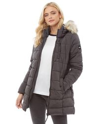 ONLY North Quilted Coat Black - Gray