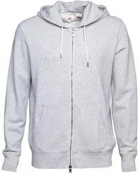 Levi's | Original Zip Up Hoody Medium Grey Heather | Lyst