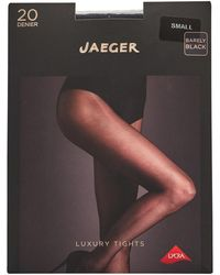 Jaeger One Pack Sheer Tights 20 Denier Nearly Black