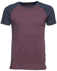 French Connection - Raglan T-shirt Chateaux Melange/marine Melange - Lyst