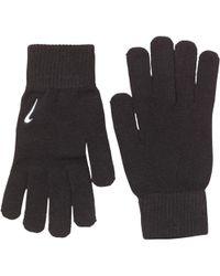 Nike Swoosh Knit Gloves Black/white