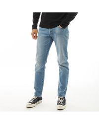 Jack & Jones Mike JJ Icon CR 002 Jeans in Slim Passform Stonewash - Blau