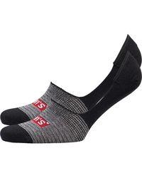 Levi's 168 Series Streifen Zwei Pack Socken Schwarz
