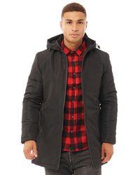 Brave Soul Austin20 Taslan Hooded Jacket Black