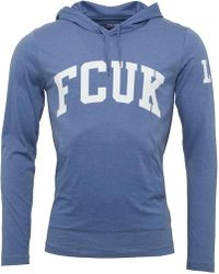 French Connection - Fcuk Ldn Hoody Light Blue Melange - Lyst